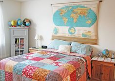 A New Headboard by Bedtime: 12 Unusual & Affordable DIY Headboard Ideas from Apartment Therapy! Homemade Headboards, Headboards For Beds, Diy Bed Headboard, Headboard Ideas, Headboard Makeover, Diy Design, Interior Design, Headboard Alternative, Decoracion Low Cost