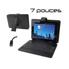 Housse clavier universelle tablette tactile 7 pouces support Micro USB. http://www.yonis-shop.com/housse-clavier/1623-housse-clavier-universelle-tablette-tactile-7-pouces-support-micro-usb.html