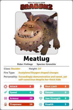 Meatlug Information Card - I reckon Fishlegs made this !!