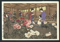 Title:  Tokugawa Peony Garden  Artist:  Hiroshi Yoshida  Date:  1928,