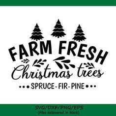 Fresh Christmas Trees, Christmas Swags, Christmas Tree Farm, Christmas Tree Themes, White Christmas, Natural Christmas, Christmas Decor, Cricut Christmas Ideas, Christmas Signs Wood