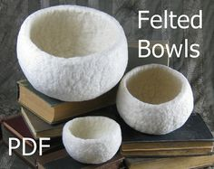 How to make wet felted bowls eBook tutorial pdf by alosha on Etsy, $14.95
