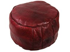Dark red lather seat from Moroccohttp://www.etnobazar.pl/shop/etnoswiat/profile/search/ca:pufy