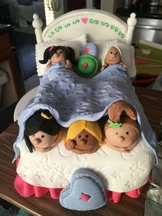Slumber party cake. Sleepover cake. 100% edible.  By: Decorated Dreams