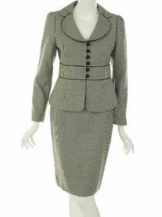 Nine West Suit, Houndstooth Jacket & Skirt