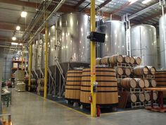 Green Flash Brewing Company - San Diego, CA. Check out those homemade wood aging barrels! #greenflash #craftbeer