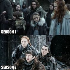 Stark kids then and now