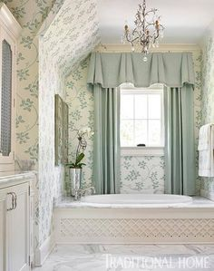 gorgeous aqua & cream bathroom