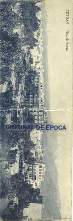 (PS-39932)POSTAL DOBLE DE TETUAN-PLAZA ESPAÑA