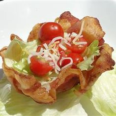 BLT Bacon Bowls - a BLT without the bread