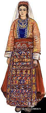 Traditional Armenian festive costume from Vaspourakan (the region around the Lake of Van).  Late-Ottoman era, ca. 1900.