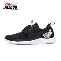 new arrival 3f274 b63b4 2016 jazovo zapatos para correr de malla de peso ligero deportes zapatos  planos negro blanco zapatillas