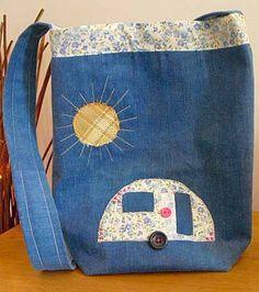 Caravan Appliqué Handbag by StrictlyCamping on Etsy, $24.20
