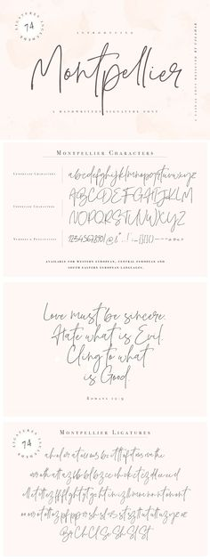 337 Best Feminine Fonts Images In 2019 Handwriting Fonts
