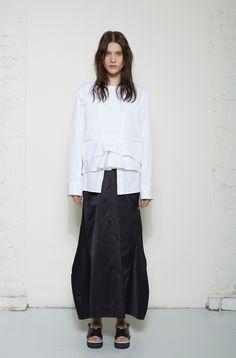 Jil Sander / Raki Blouse  Jil Sander / Ramia Long Skirt  Jil Sander / Criss-Cross Platform Sandal #lagarconneatelier