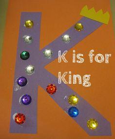 Letter K: Alphabet Activities for Kids - Crafts Preschool Letter Crafts, Alphabet Letter Crafts, Abc Crafts, Alphabet Book, Classroom Crafts, Alphabet Activities, Preschool Activities, Kids Crafts, Circus Activities