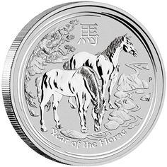 """2014 Silver Australian /""""Year of the Horse/"""" Lunar 1 oz Perth Mint Coin Sealed"""
