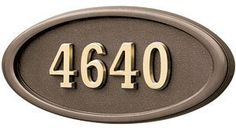 Gaines Mailboxes Housemark Large Oval Address Plaques Bronze, Bronze with Brass by Gaines Mailboxes. $157.79. Budget Mailboxes has a 1-day sale on the Housemark Large Oval Address Plaques Bronze, Bronze with Brass by Gaines Mailboxes. This item is sometimes also known as: H2-LOBR - B0081A17NU - - WL-H2-LOBRBM, 19149