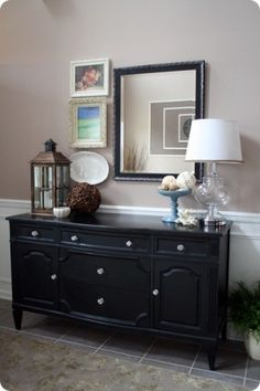 I like this too, for a heavier look. Love this foyer idea! by dee
