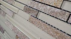Gold Quartz Stone Mosaic White Polished Matt Glass Tile Kitchen Backsplash (Z33)
