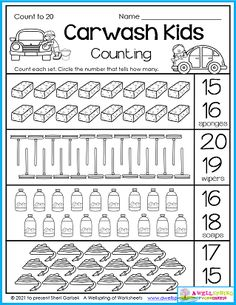 This worksheet is part of my Summer Counting Worksheets for Kindergarten packet. There's 50 worksheets that include counting, graphing, color by number, number tracing, and more. Please check them out! Counting Worksheets For Kindergarten, Graphing Worksheets, Alphabet Tracing Worksheets, Tracing Letters, Number Number, Number Tracing, Upper And Lowercase Letters, Lower Case Letters, Counting For Kids