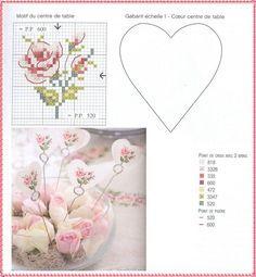 Amor-Perfeito-Amor: Gráfico ponto cruz rosa XI