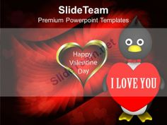 Valentine Penguin Isolated Winter PowerPoint Templates PPT Themes And Graphics 0213 #PowerPoint #Templates #Themes #Background