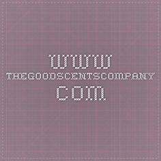 The Good Scents Company - Search for product information