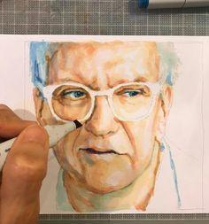 "- Eye ❤ Markers (@_karen.goins_) on Instagram: ""#wip #portrait #painting #eyes #eyewear #glasses #sunglasses #face #frames #fashion…"""