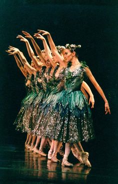"yoiness:    Pittsburgh Ballet TheatreThe nymphs of ""The Sleeping Beauty "" Photo by: Randy Choura"