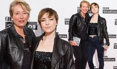 Emma Thompson wears matching leather jacket to daughter Gaia Wise Edgy Pixie, Pixie Crop, Leigh Lawson, Ronnie Barker, Ben Elton, Dawn French, Comedy Events, Best Actress Award, Emma Thompson