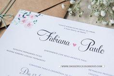 Convite Floral Menta - Em Breve Casadinhos