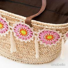 Cómo decorar una bolsa de playa con crochet