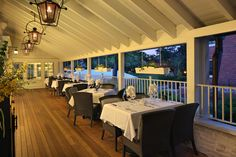 Outdoor dining at 30Boltwood's covered terrace.