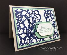 Today's card shows off the Floral Boutique Suite from the new Stampin' Up! 2016-2017 Annual Catalog. Order Stampin' Up! On-Line.