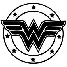 wonder woman logo tattoo | Black And White Wonder Woman Logo R2 decals — \x3cb\x3ewonder woman ...