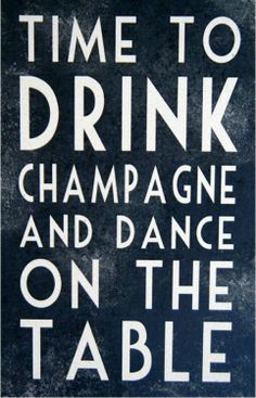 Time to drink champagne and dance on the table. HNY everyone!