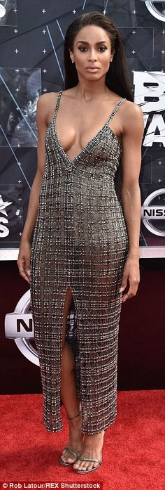 Wow factor: The 29-year-old entertainer donned a semi see-through Wes Gordon dress on the ...