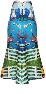 Alice McCall Curiouser Long Graphic Skirt : The Australian designer stands out for her playful designs that marry elements of girlish charm and bohemian ease with an added rock 'n' roll vibe. Whimsical yet wearable, this long **Alice McCall** skirt delivers a visually striking splash with a bold, digital graphic.Daily designer fashion deals on sale on violashopping.com