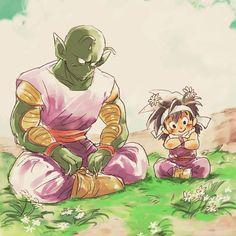 Así pasaban sus días Piccolo y Gohan  #DragonBall #DragonBallZ #Gohan #Anime #Fanart
