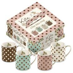 Set 4 tassen - Katie Alice Cottage Flower - Bella Decor