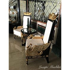 Living estilo Imperio by La Petite Galerie Bs.As. Argentina
