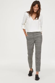 Dress pants in thick, textured-weave fabric. Zip fly with concealed hook-and-eye fastener, side pockets, and mock back pockets. Straight, tapered legs with Casual Work Outfits, Business Casual Outfits, Business Attire, Office Outfits, Work Attire, Office Attire, Casual Office Clothes, Business Fashion, Stylish Outfits
