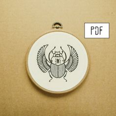 Scarab Hand Embroidery Pattern PDF modern embroidery pattern