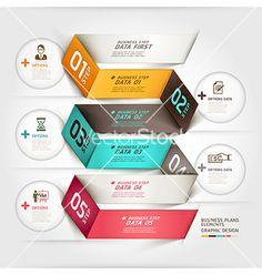 Business diagram origami template vector by graphixmania on VectorStock®