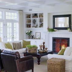 Green living room.