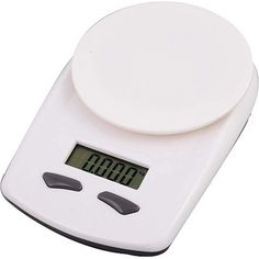 This is a plastic white kitchen scale and it weighs in kilograms, grams, pounds and ounces. Features include a LCD display and comes packaged in a gift box Gadget Gifts, Fine Wine, Kitchen Items, Corporate Gifts, Scale, Plastic, Display, Weights, Box
