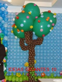 Simone Lima Balões: ESCULTURA ARVORE LALALOOPSY COM BALÕES