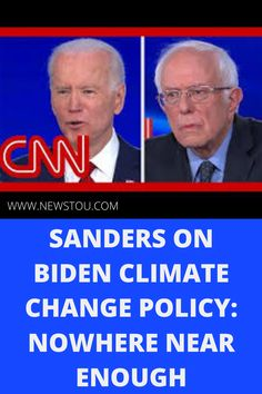During the Democratic presidential debate in Washington, Sen. Bernie Sanders and former Vice President Joe Biden discuss the steps they will take to tackle the climate crisis.