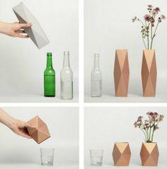 geo holders over bottles vases